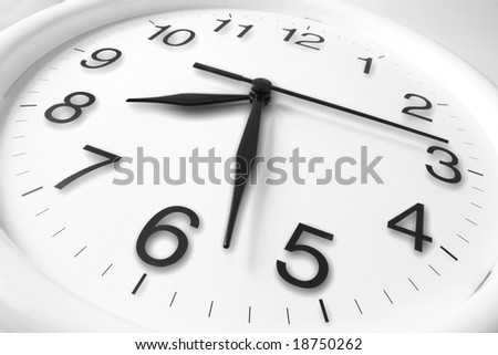 Clock with Shadows on Seamless Background
