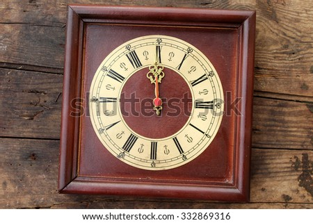 Clock world time concept - 12 o' clock - midnight - stock photo