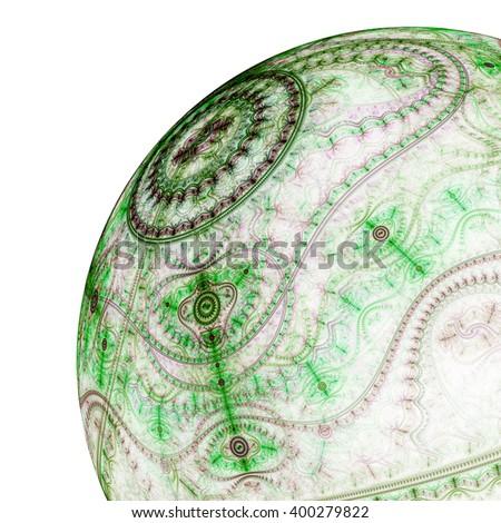 Clockwork fractal sphere, digital artwork for creative graphic design - stock photo