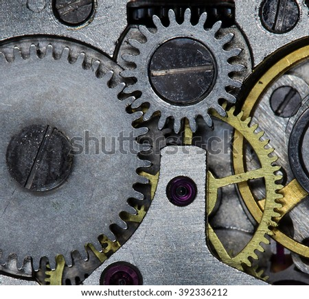 clockwork women's watches, high resolution and detail - stock photo