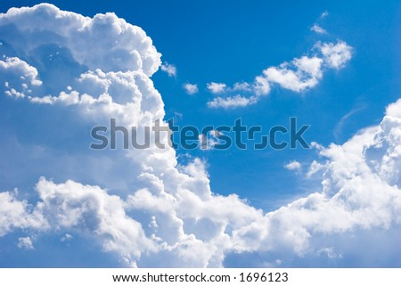clods in the sky - stock photo