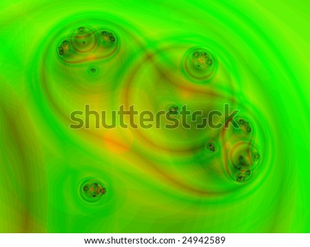 Clones. Computer generated image of cell division - stock photo