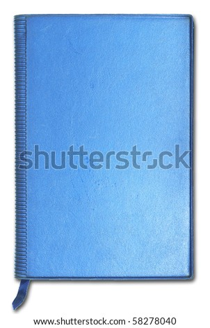 Close blue notebook for text and background - stock photo