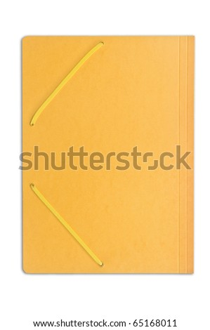 Close file isolated on white - stock photo