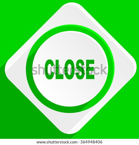 close green flat icon
