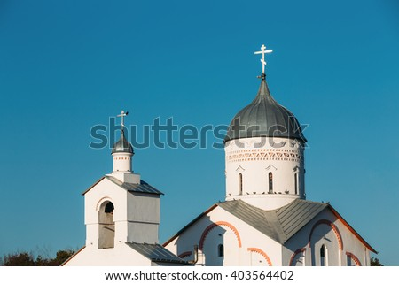 Close of Dome of St. Alexander Nevsky Church in Gomel, Belarus. Orthodox Church. - stock photo