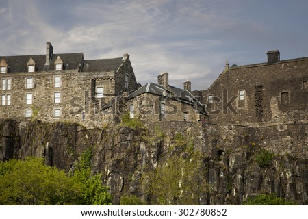 Close shot of Stirling Castle - stock photo