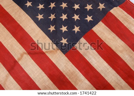close shot of the american flag - stock photo