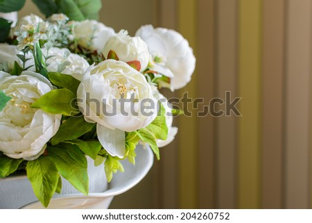close up a bunch of beautiful flower with vintage background - stock photo