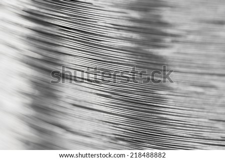 close up a roll of steel wire - stock photo