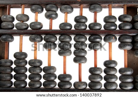 close-up abacus - stock photo