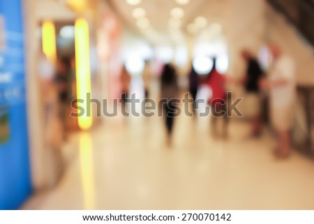 Close up abstract blurred in department store - stock photo