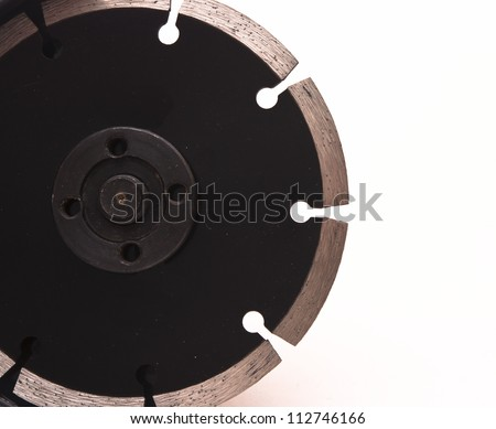 close-up angle-grinder isolated on a white - stock photo