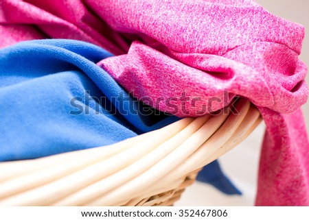 close up basket of clothes