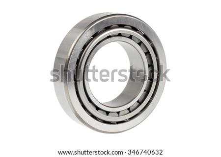 Close up bearing on white background - stock photo