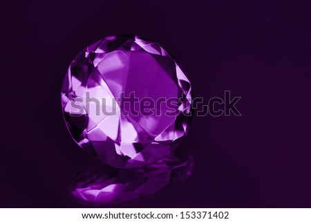 Close-up beautiful Purple  gem stones. - stock photo