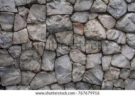 rock wall design. Close up big stone or rock wall for exterior design architect  Stone background Monochrome Big Rock Wall Texture Stock Photo 760621018