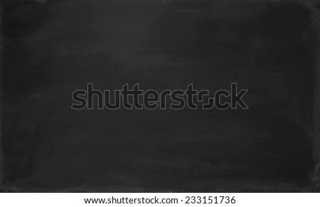 Close up blank black chalkboard. Background and texture. - stock photo