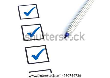Close up blank checkbox - stock photo