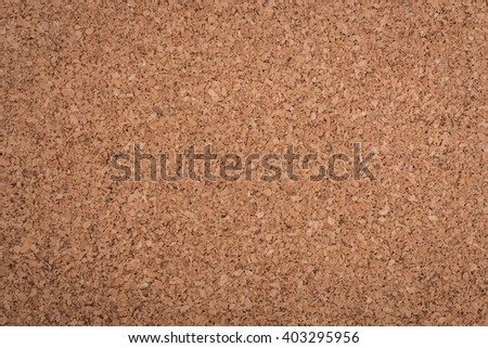 Close up blank cork wooden board background texture - stock photo