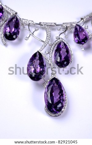 Close-up blue diamond - stock photo