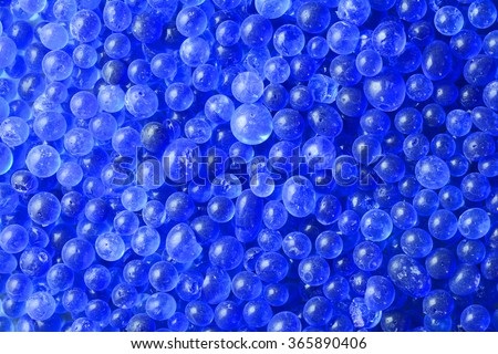 Close-up blue silica gel texture background