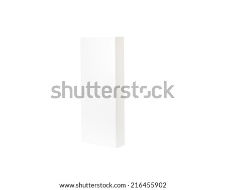 close up  box template on white background