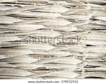 close up brown corrugated cardboard, abstract background and texture - stock photo