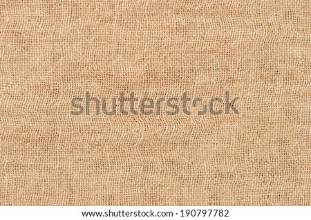 close up brown linen texture background - stock photo
