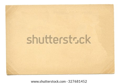 Close up Brown postcard Paper Texture - stock photo