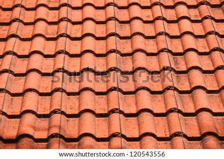 Close up brown roof for use texture background./Brown roof - stock photo