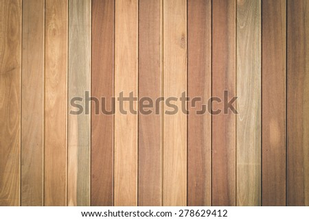 Close up brown wood plank texture for background - stock photo