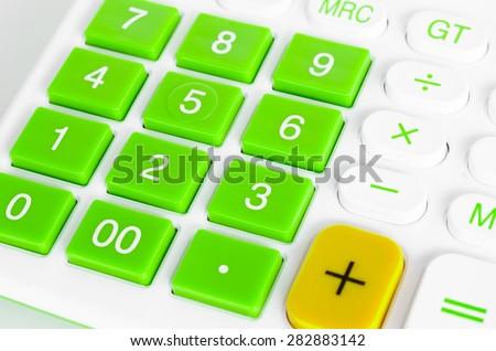 close up button calculator - stock photo