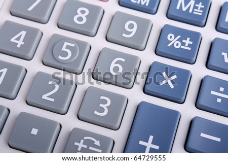 Close up Calculator Keypad
