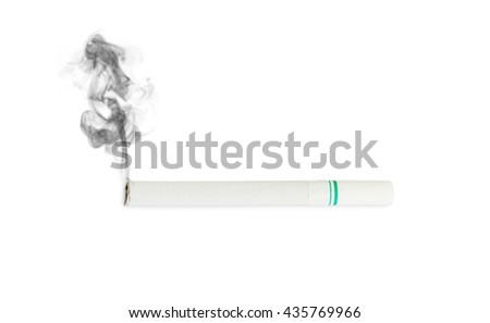 Close up Cigarette on isolated white backgrounds - stock photo