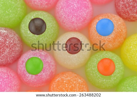 Close-up colorful gum drops candy to use as background  - stock photo