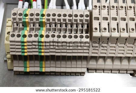 Close Control Panel Assembly Wire Terminal Stock Photo 295181522 ...