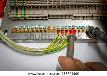 Close Control Panel Assembly Wire Terminal Stock Photo 388724665 ...