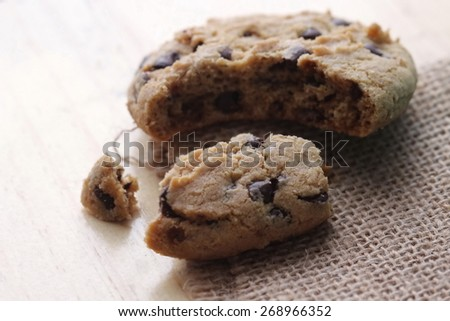 close up cookie - stock photo