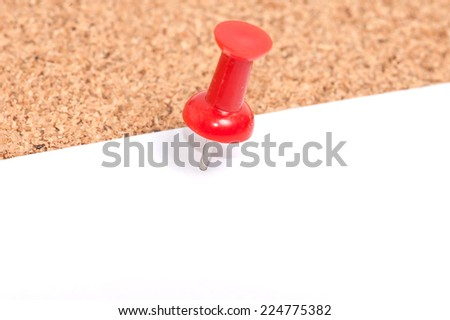 close up Cork board with blank notes - stock photo