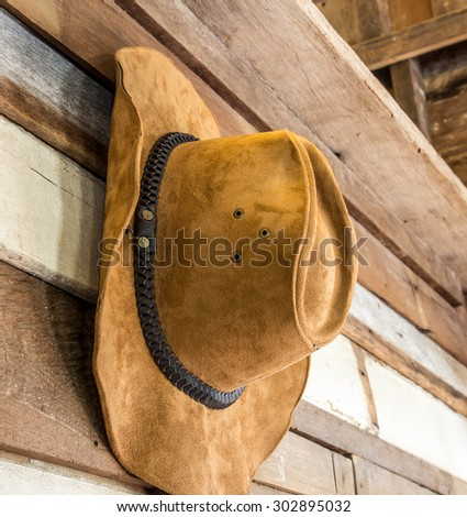 Close up cowboy hat  - stock photo