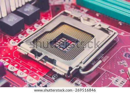Close up CPU Socket  - stock photo