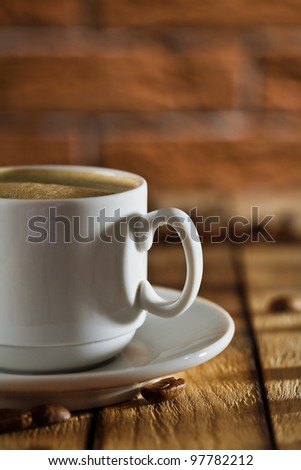 close-up cup with coffee
