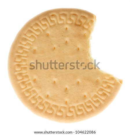 Close up delicious biscuit - isolated on white background
