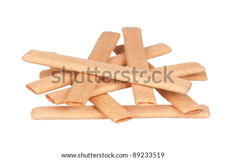 Close up delicious cookie isolated on white background