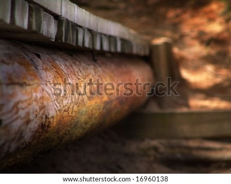 Close-up detail of a bridge. - stock photo
