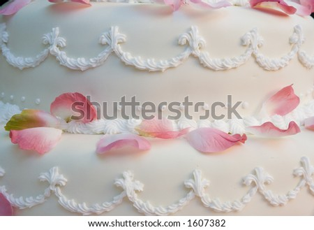 Close up detail of a wedding cake - stock photo