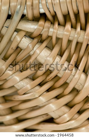 Close up details of a wicker basket