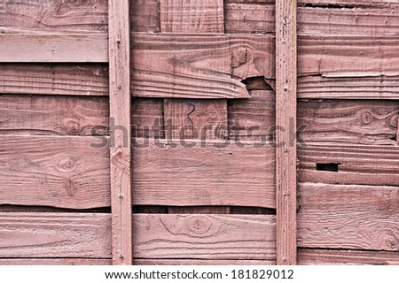 Close up details of a wooden fence - stock photo