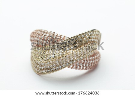 Close up - diamond ring - stock photo